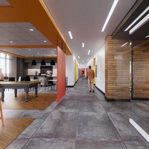 ELLC lobby 3D rendering